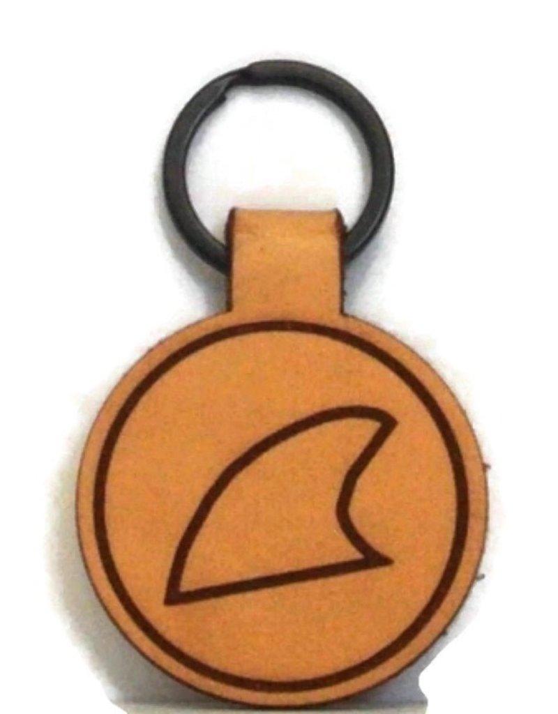 Blueline Surf + Paddle Co. Blueline Leather Keychain FIN