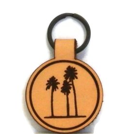 Blueline Surf + Paddle Co. Blueline Leather Keychain PALM TREES