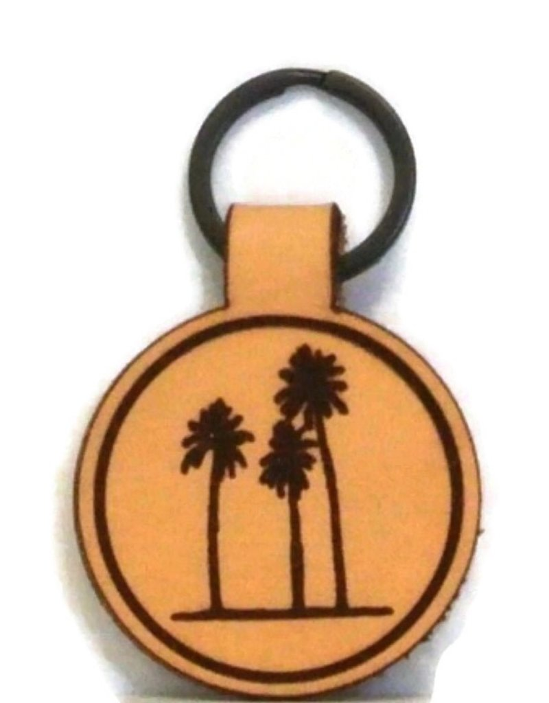Blueline Leather Keychain PALM TREES