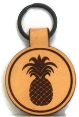 Blueline Surf + Paddle Co. Blueline Leather Keychain PINEAPPLE