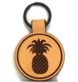 Blueline Surf + Paddle Co. Blueline Leather Keychain PINEAPPLE