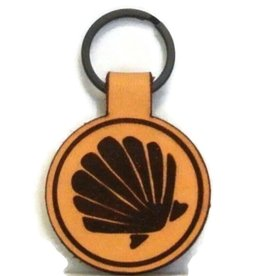 Blueline Leather Keychain SHELL