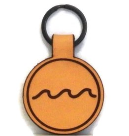 Blueline Leather Keychain WAVE