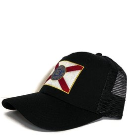 Blueline Surf + Paddle Co. Curved Florida Flag Black\Scarlet.Roy.Yel