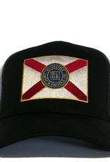Blueline Surf + Paddle Co. Curved Florida Flag Black\Carolina Oxford\Scar.Roy.Yel