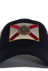 Blueline Surf + Paddle Co. Curved Florida Flag Twilight (navy)\White\Scar.Roy.Yel