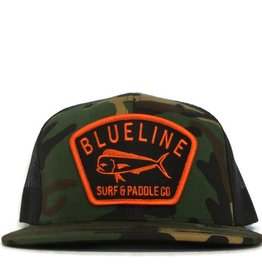 Blueline Surf + Paddle Co. Flat Mahi Badge Camo\Black