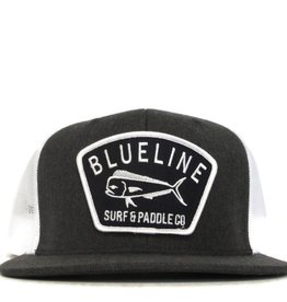 Blueline Surf + Paddle Co. Flat Mahi Badge Charcoal\White