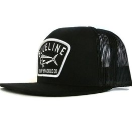 Blueline Surf + Paddle Co. Flat Mahi Badge Black\Black