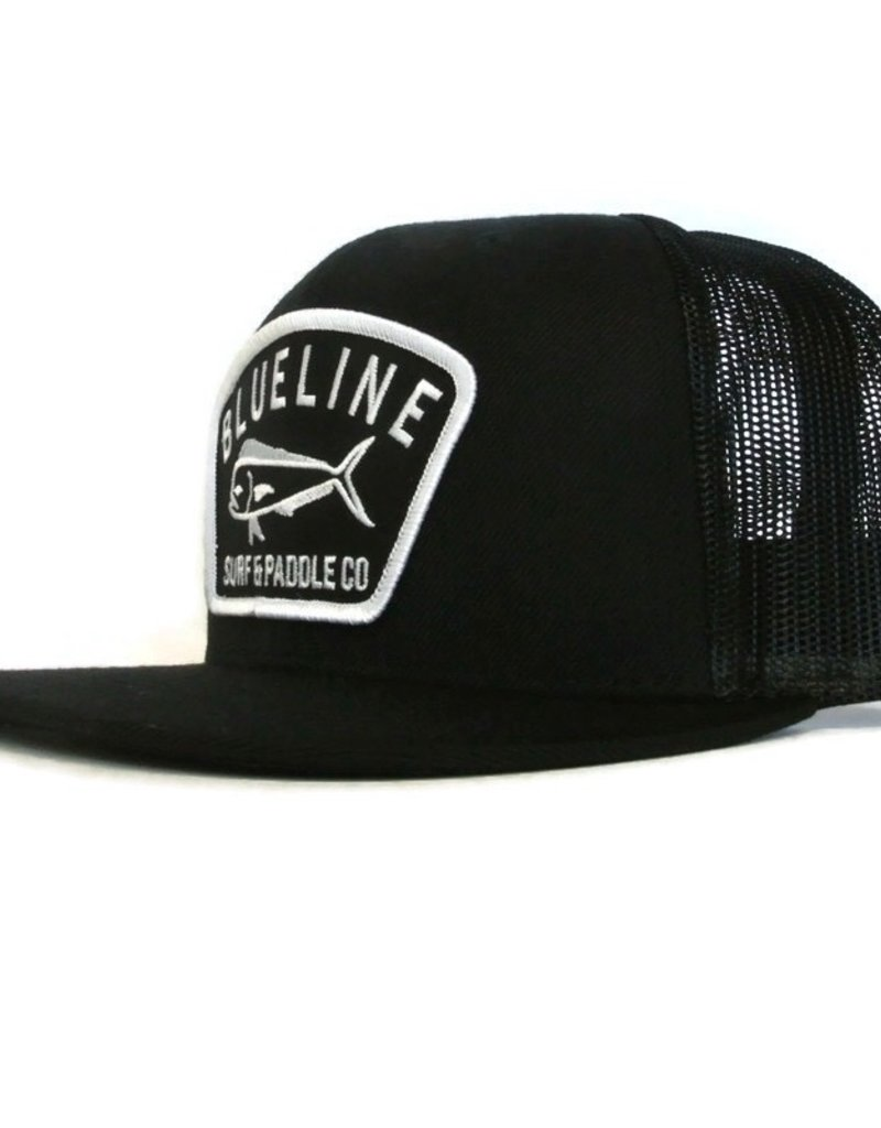 Blueline Surf + Paddle Co. Flat Mahi Badge Black\Black