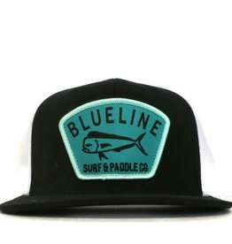 Blueline Surf + Paddle Co. Flat Mahi Badge Back\White\Turquoise