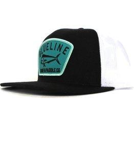 Blueline Surf + Paddle Co. Flat Mahi Badge Back\White\Turquoise