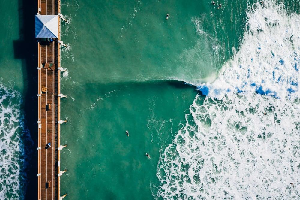 Juno Pier Drone Shot