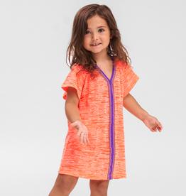 Pitusa PitUSA Girls' Abaya Dress CORAL