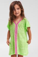 PitUSA Girls' Abaya Dress LIME
