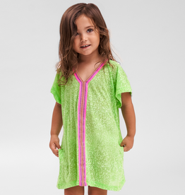 PitUSA Girls' Abaya Dress LIME