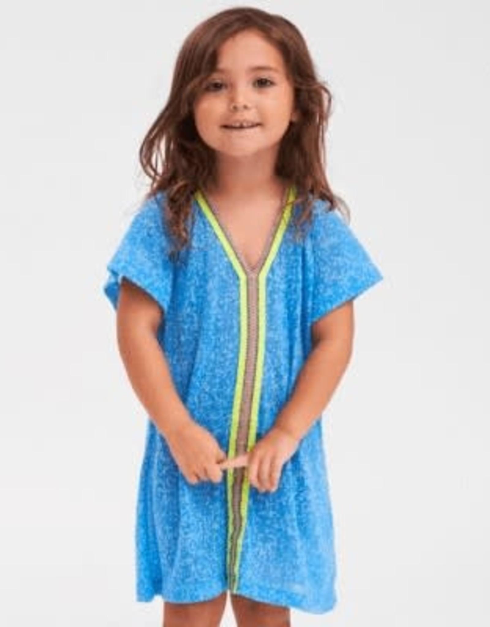 PitUSA Girls' Abaya Dress BLUE