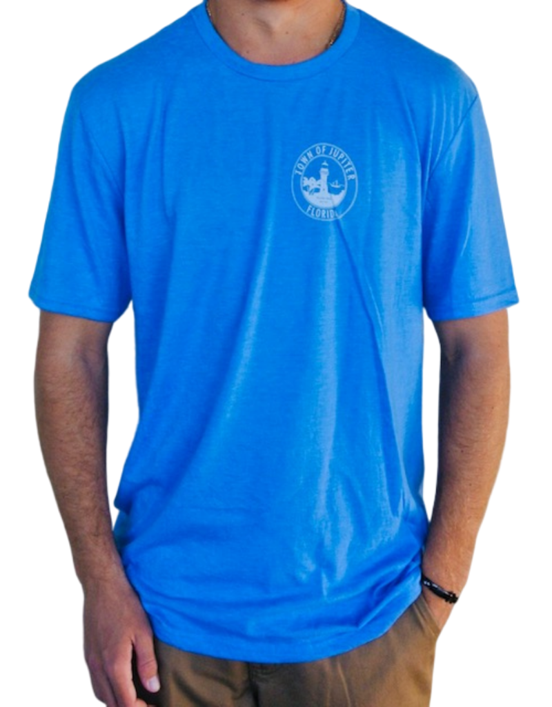 Blueline Surf + Paddle Co. Town of Jupiter Tee Royal Blue