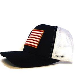 Blueline Surf + Paddle Co. USA Flag Curved UV LITE Hat Navy\White