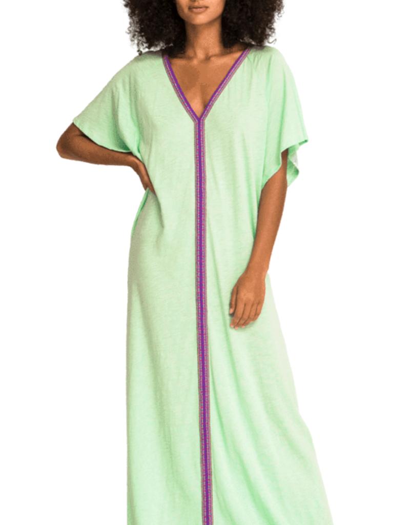 PitUSA Pima Abaya Dress PISTACHIO
