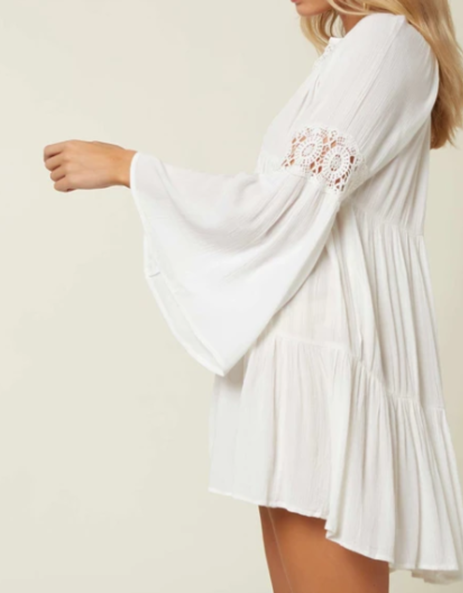 O'Neill Swim Bell Sleeve Cover Up White