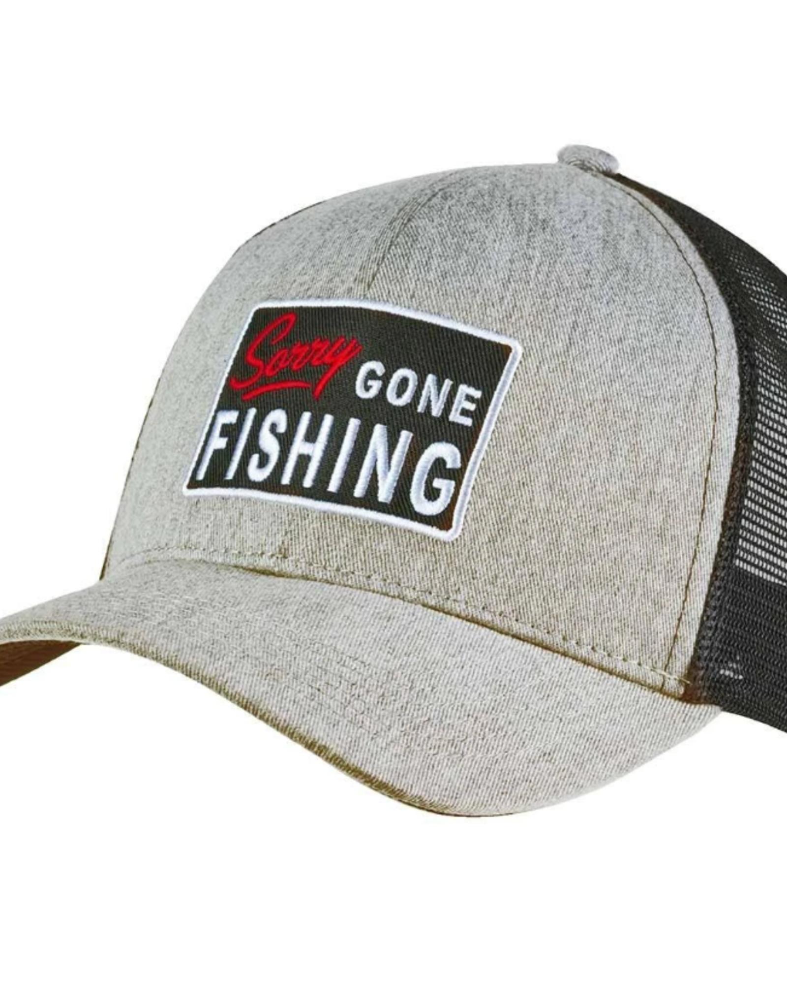 Avid Gone Fishing Trucker Heather Gray