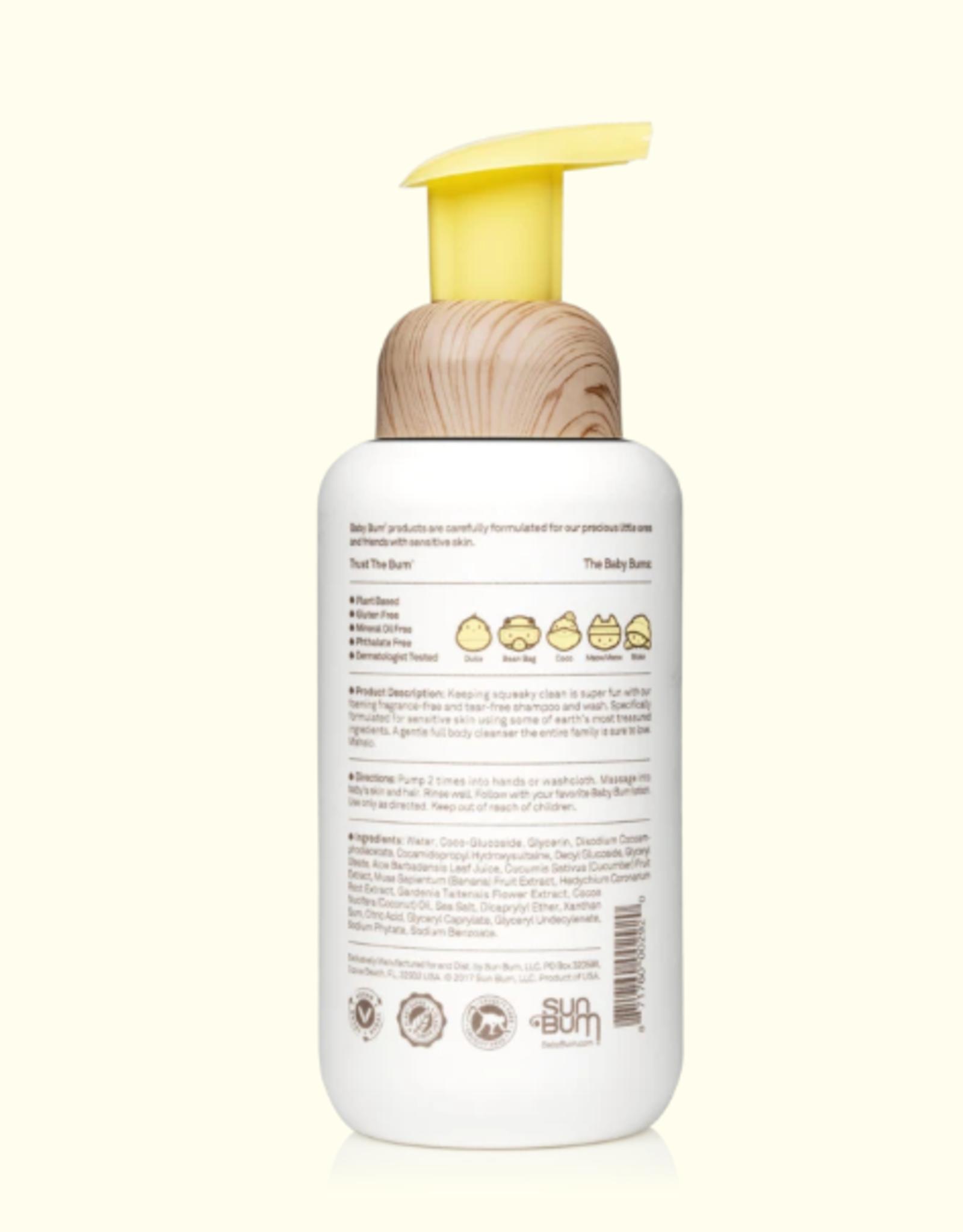 Sun Bum Baby Bum Foaming Shampoo & Wash Natural 12 oz.