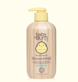 Sun Bum Baby Bum Gel Shampoo & Wash Natural Fragrance 12 oz.