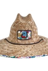 Avid Sundaze Straw Hat Fish Floral