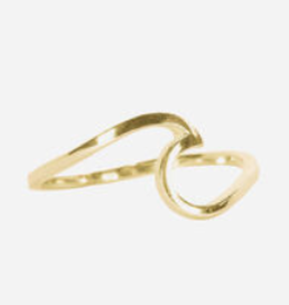Pura Vida Pura Vida Wave Ring Gold