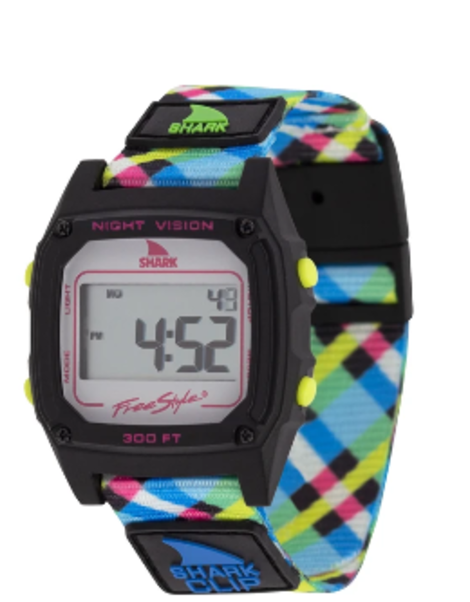 Freestyle Shark Classic Clip Neon Plaid