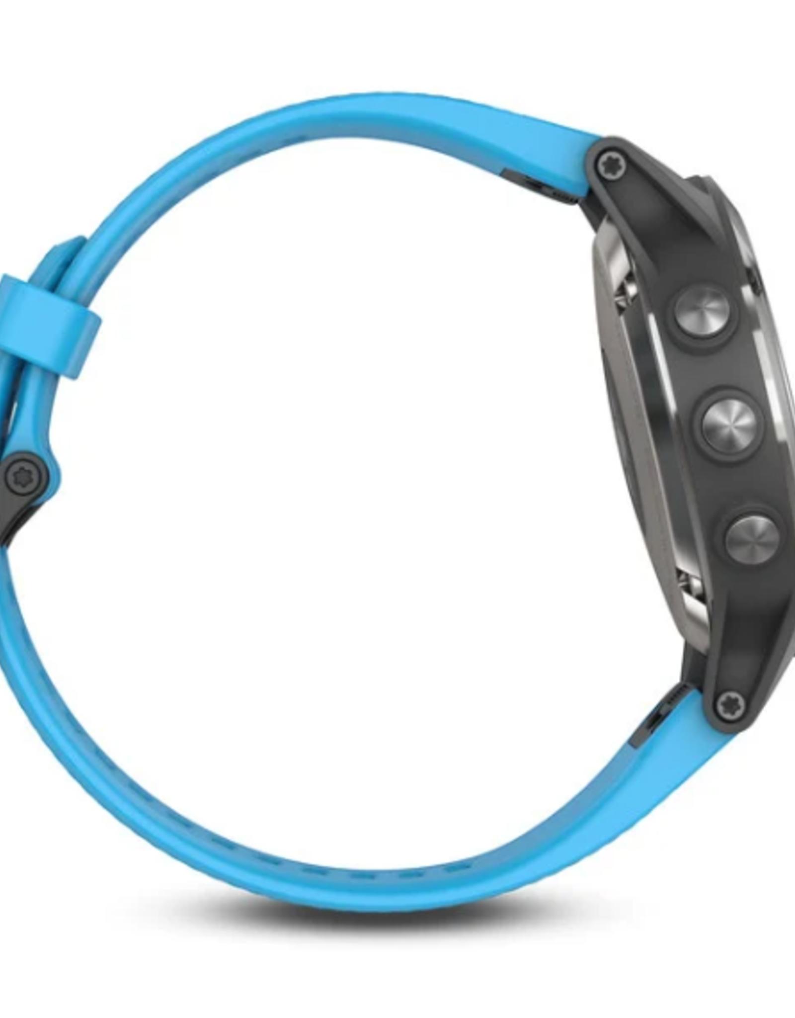 Garmin 010-01688-40 Quaitx 5 Stainless Steel with Blue Band