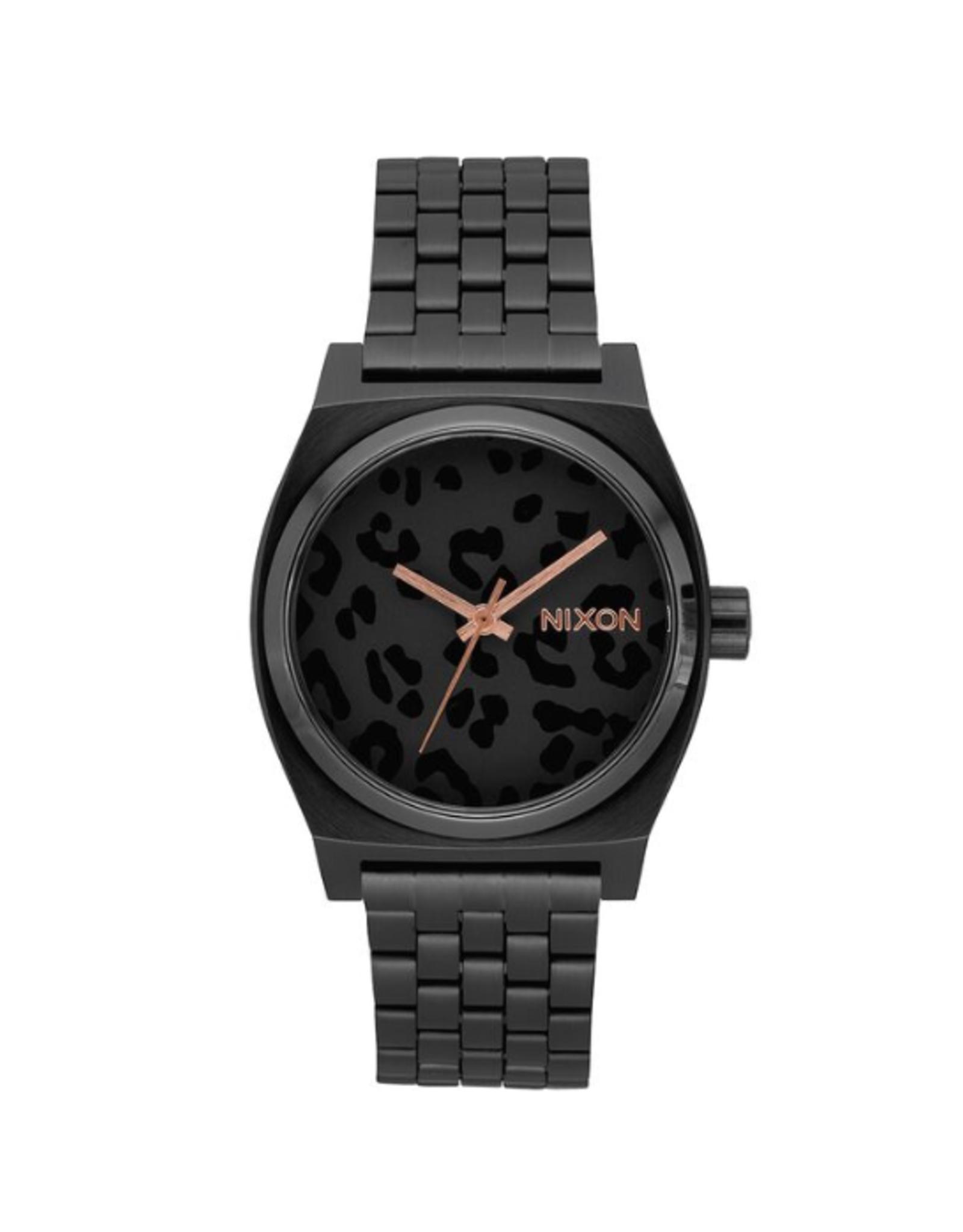 Nixon A045 2125 Time Teller All Black Cheetah