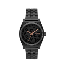 Nixon A045 2125 Time Teller All Black Cheetah