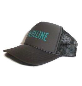 "Blueline Surf + Paddle Co. Otto ""BLUELINE"" Trucker Light Gray\Jade"
