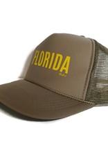 "Blueline Surf + Paddle Co. Otto ""FLORIDA"" Trucker Tan\Yellow"