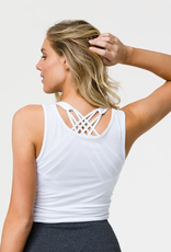 Onzie Knot Crop White