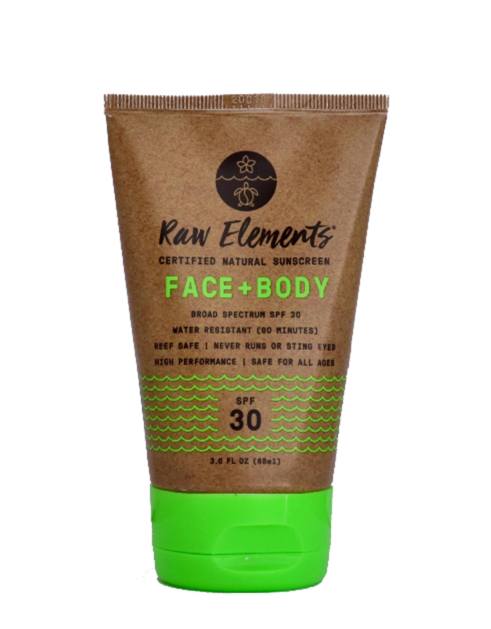 Raw Elements Eco Formula Face + Body 3 oz. SPF 30 Tube