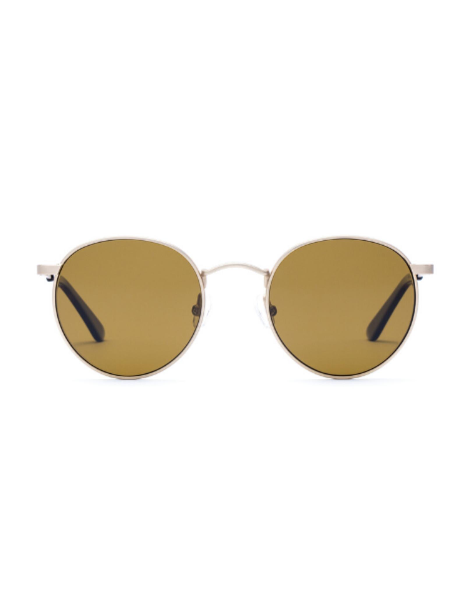 Otis Eyewear 134-2002P Flint Brushed Gold/Brown Polar
