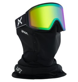 Anon Anon Men's M4 Cylindrical Goggle + Spare Lens + MFI Face Mask