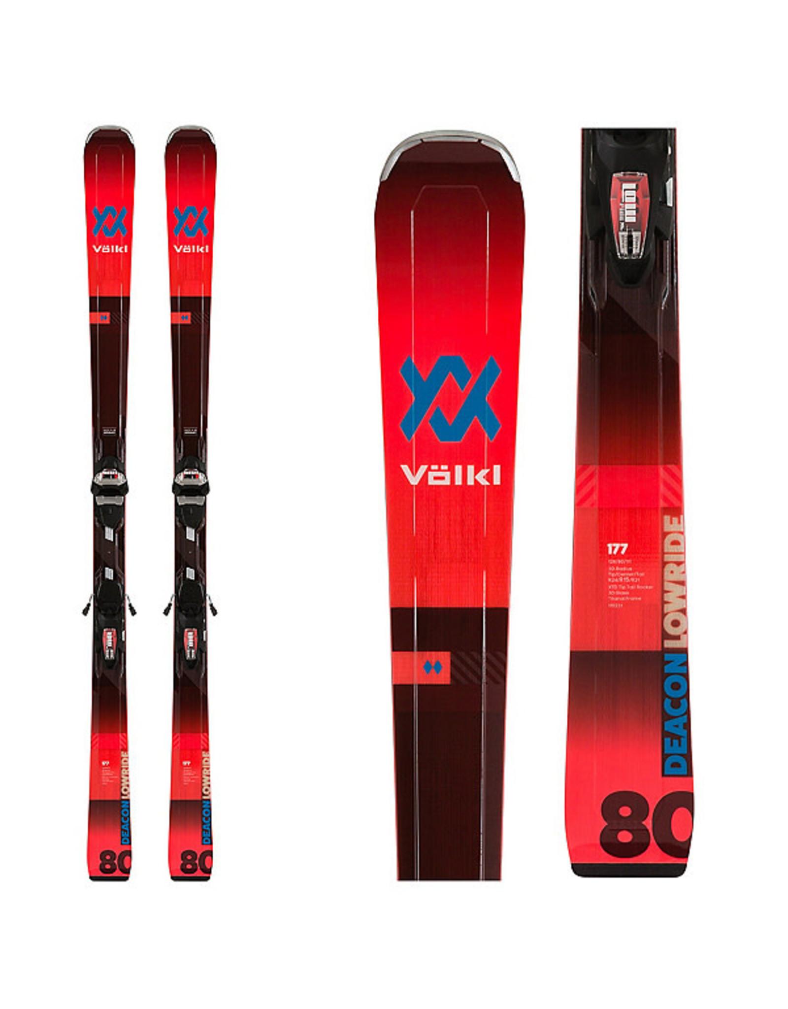 Volkl Volkl Men's Deacon 80 Ski + Vmotion 3 10 GW Bindings 2020