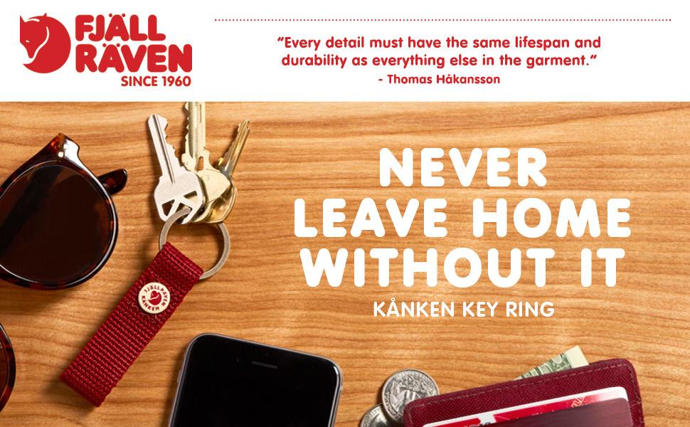 Never Leave Home Without Your Kanken Keyring