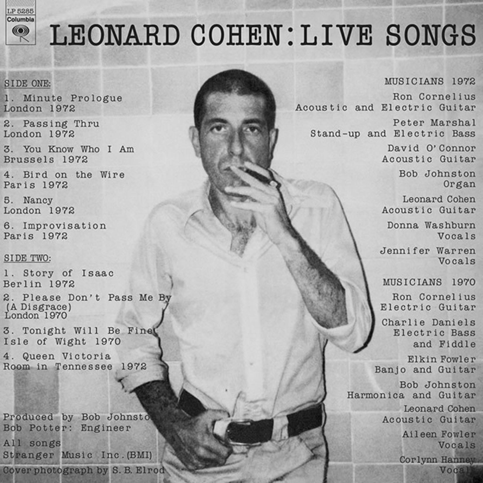 [New] Cohen, Leonard: Live Songs