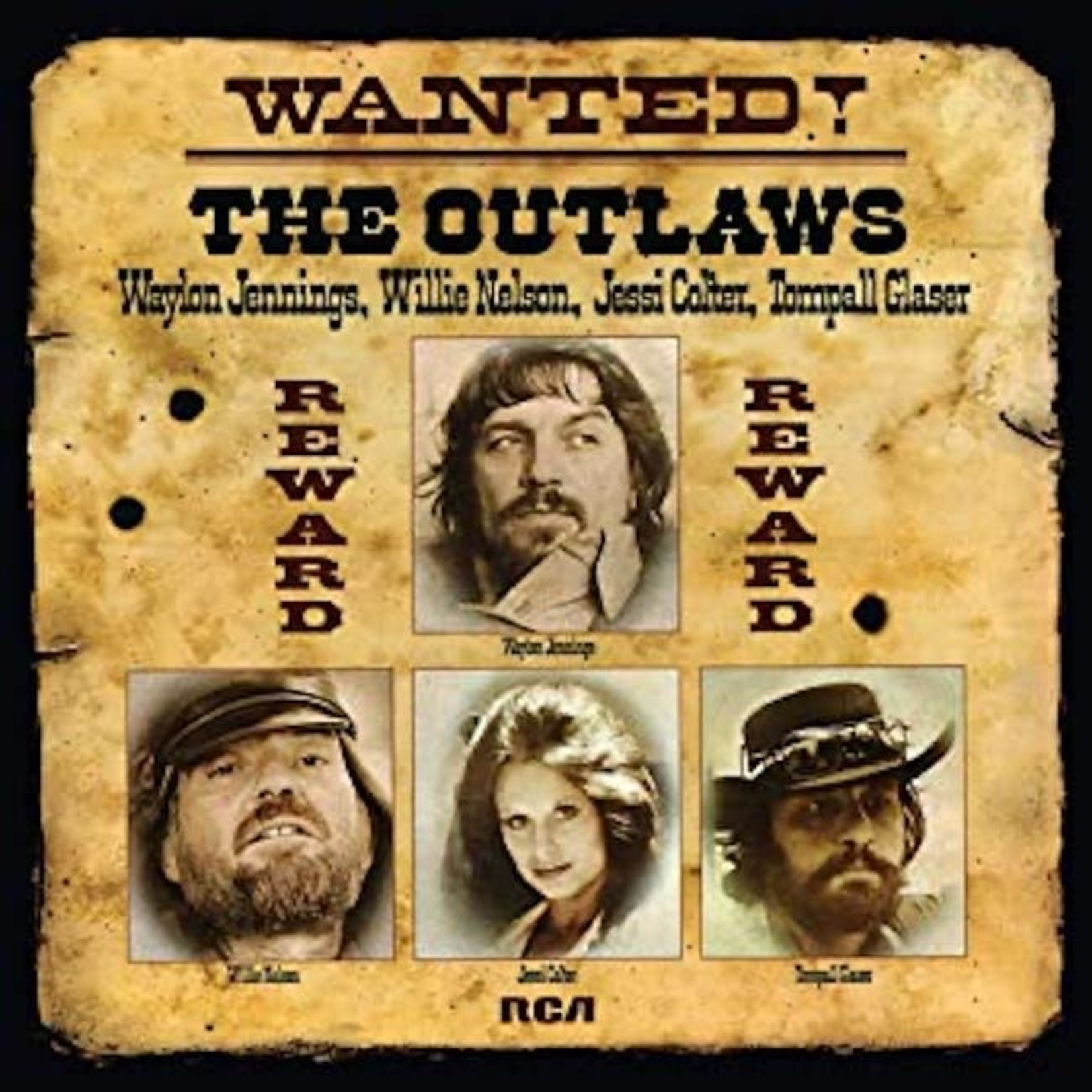 [Vintage] Jennings, Waylon (Nelson, Colter, Glaser): Wanted! the Outlaws