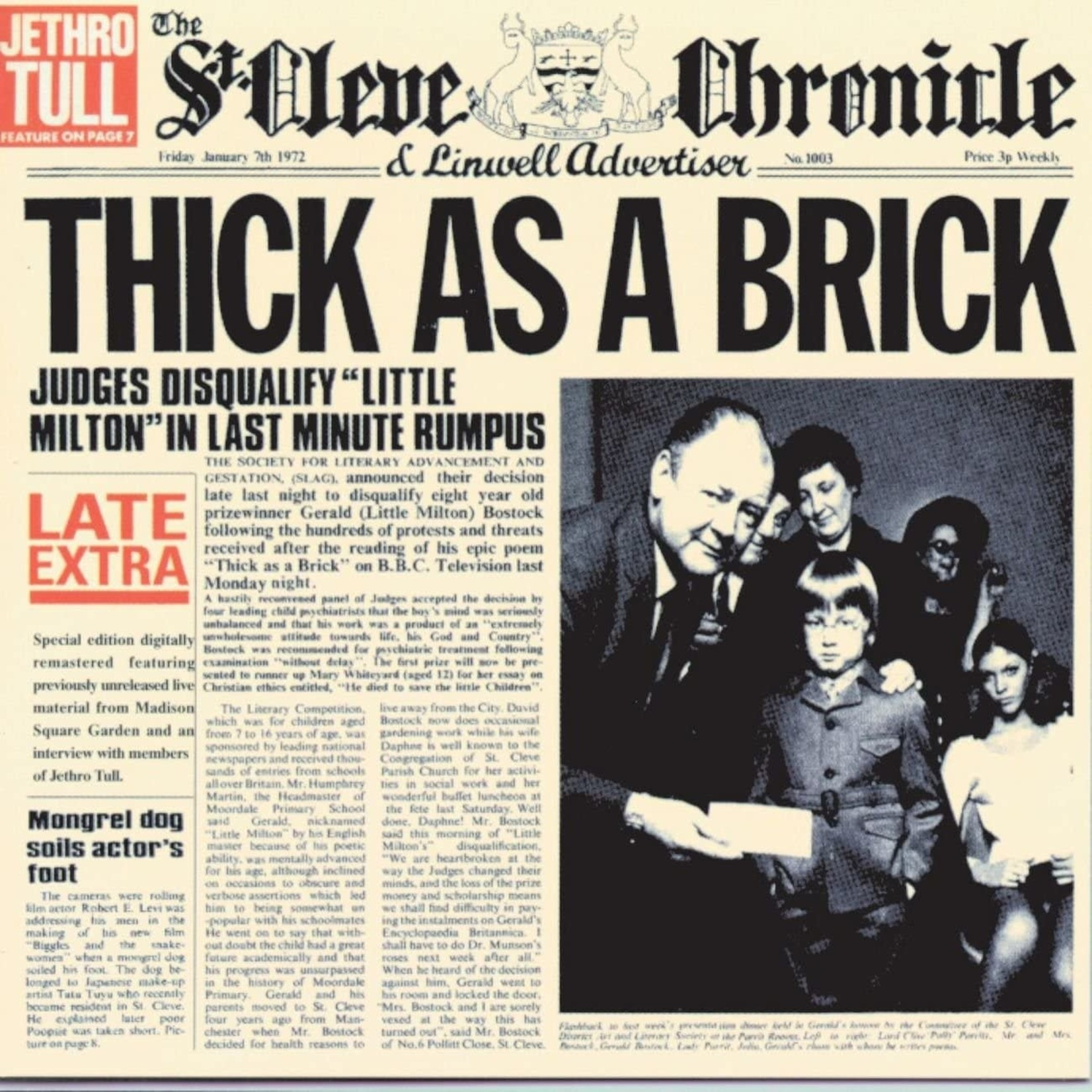 [Vintage] Jethro Tull: Thick As a Brick (reissue)