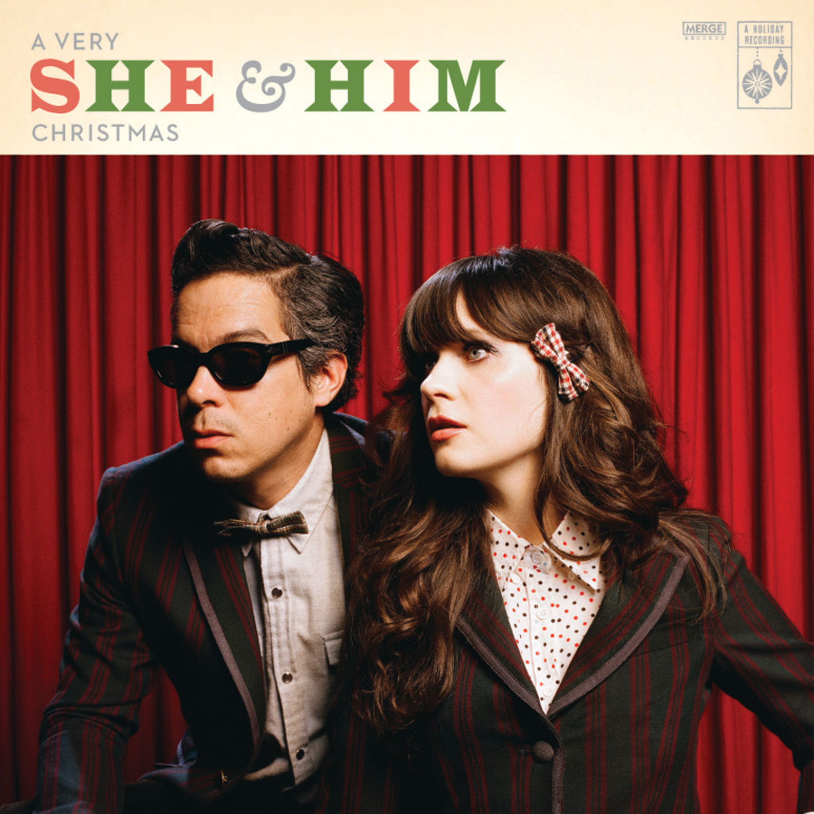 """[New] She And Him: A Very She And Him Christmas (10th Ann/bonus 7"""") [MERGE]"""