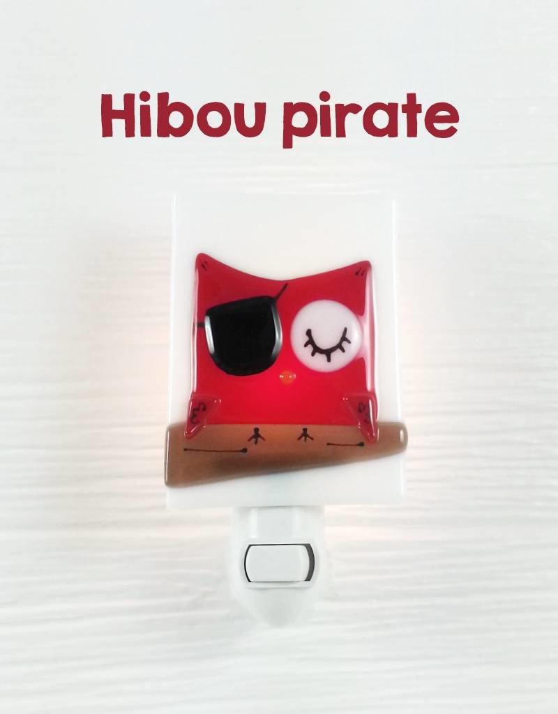 Veille sur toi Veilleuse - Petit hibou - Pirate
