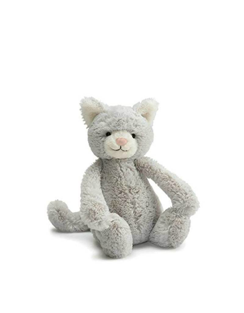 Jelly Cat plush- medium gray cat
