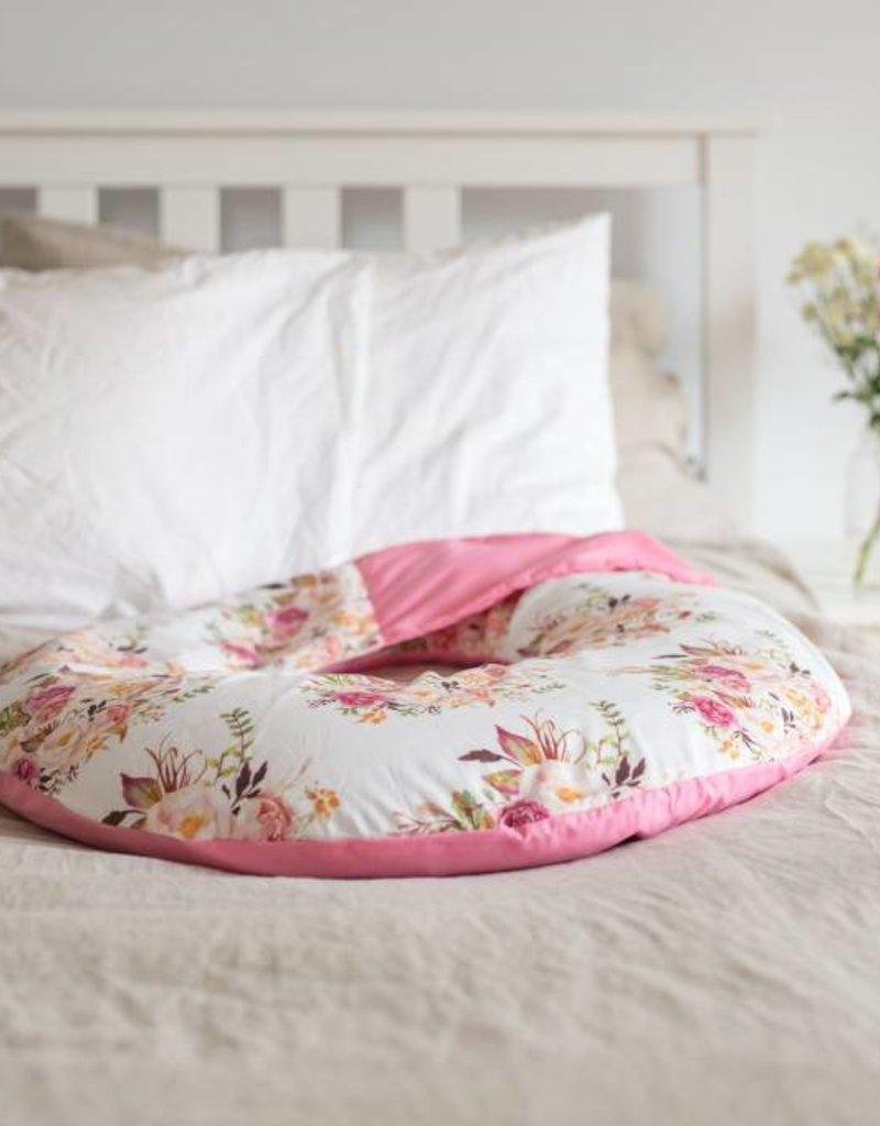 maovic Coussin d'allaitement - Écales de sarrasin - Ligné et fleur