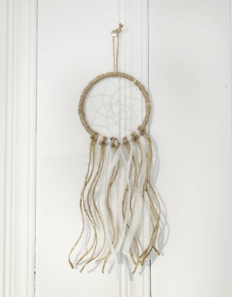 Créations Pacha Dream catcher - Small 4 in 1/2 - White